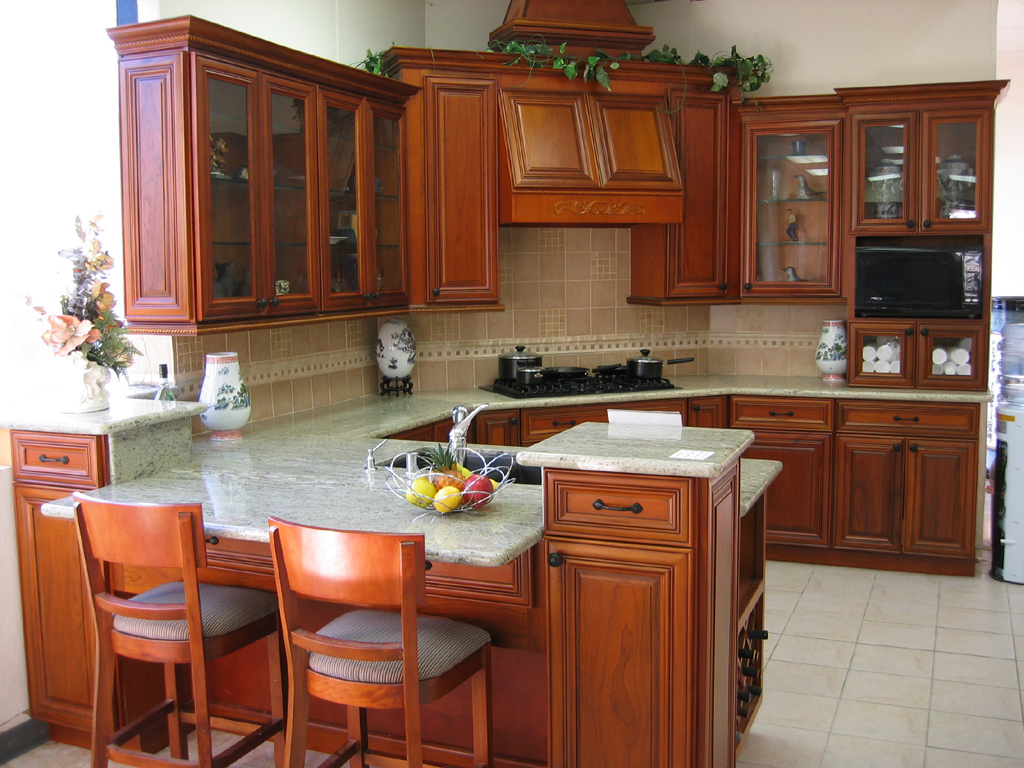charming cherry wood cabinets - Cherry Wood Kitchen Cabinet