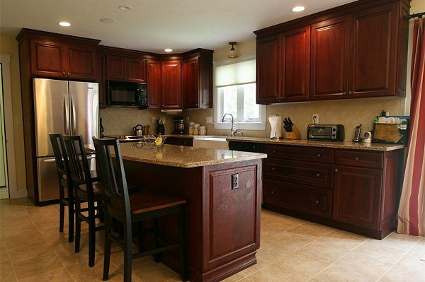 Kitchen image kitchen bathroom design center - Kitchen ideas with cherry cabinets ...