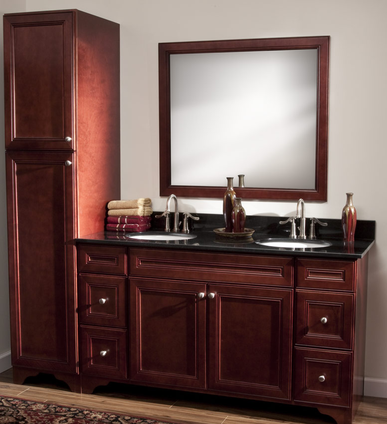 cherry avalon rta bathroom cabinets vanities