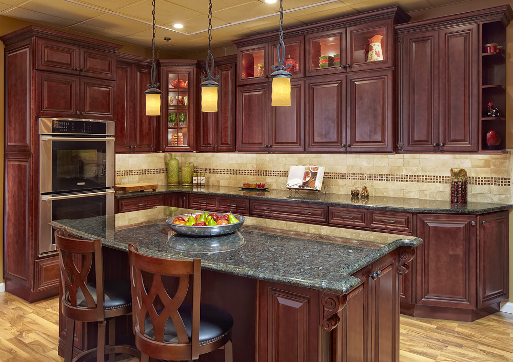 Kitchen Ideas Cherry Cabinets kitchen image - kitchen & bathroom design center