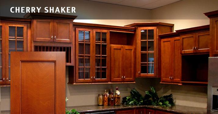 Cherry Shaker Kitchen Cabinets kitchen image - kitchen & bathroom design center