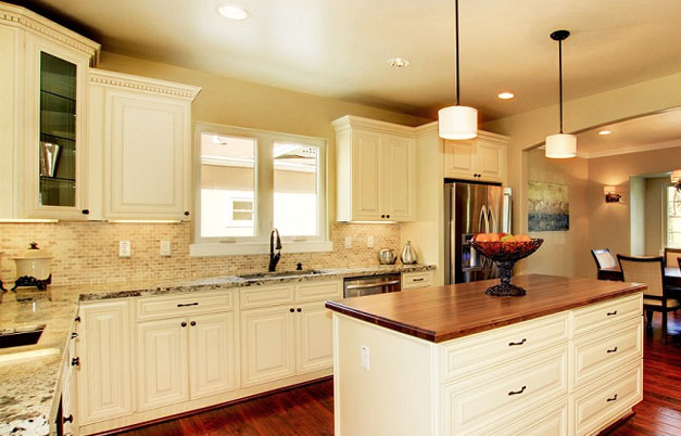 Kitchen image kitchen bathroom design center - How to glaze kitchen cabinets cream ...