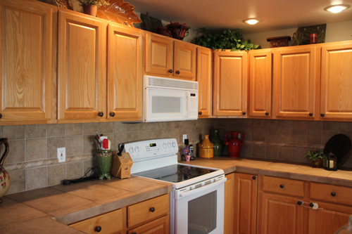 Orange Kitchen Colors With Oak Cabinets