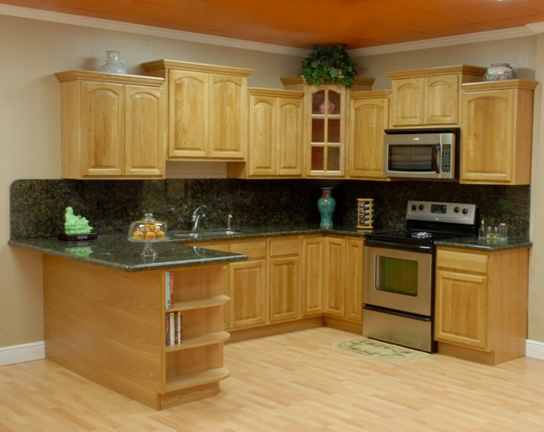 Black Granite Countertops With Oak Cabinets : Kitchen image bathroom design center